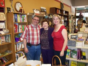 My good friends Kevin and Debbie Brubaker at my booksigning in Burlington, Iowa.
