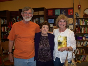 Family support at my book signing with Steve and Jonnie Tiemeier.