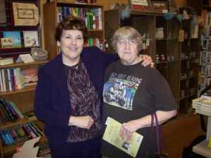 Kathy Murphy, friend and classmate, at my book signing.