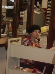 The librarian, Mary Katherine, who hosted the book signings.