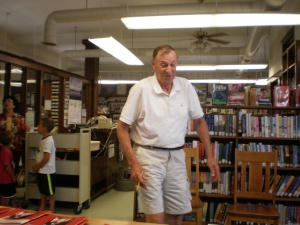 Phil Burmeister, Mount Ayr former superintendent,bought one of my books.