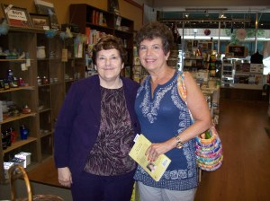 My friend Vicki Stoller at my book signing.