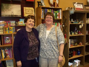 My childhood friend and classmate, Vikki Christy at my book signing.