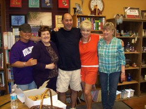 Left to right: Geri Elmore, Mary, Don Riley, Jean Riley, and Sheila Hubbard.