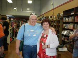 Friend, classmate, and new graduate, Linda Giffin, joined me at the Burlington book signing event.