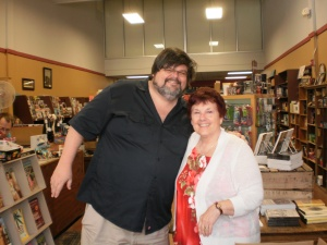 Bookstore owner, Christopher Steven  Murphy pictured with me.