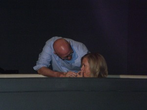 Our daughter-in-law, Carrie being baptized
