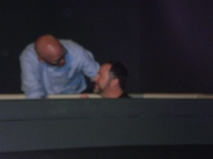 Our son being baptized on Easter Sunday