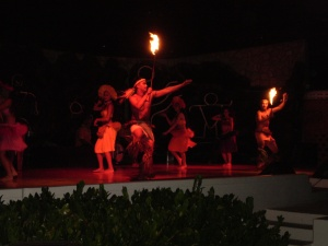 Fire Dancers during Luau