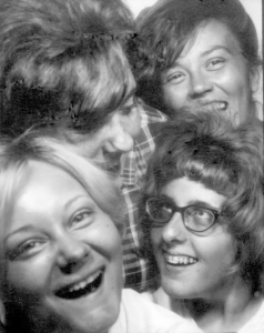Me, Bonnie, Bonny, and my sis, Martha crammed into a photo booth