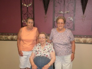 Owen's three living aunts at the Pickard reunion